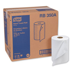 "Tork® Advanced Hardwound Roll Towel, 7.88"" x 350 ft, White, 12 Rolls/Carton"