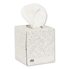 Tork® Advanced Facial Tissue, 2-Ply, White, Cube Box, 94 Sheets/Box, 36 Boxes/Carton