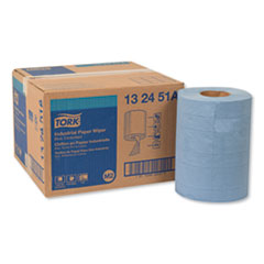 Tork® Industrial Paper Wiper, 4-Ply, 10 x 15.75, Blue, 190 Wipes/Roll, 4 Roll/Carton