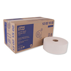 Tork® Advanced Jumbo Bath Tissue, Septic Safe, 2-Ply, White, 1600 ft/Roll, 6 Rolls/Carton