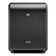"Tork® Electronic Hand Towel Roll Dispenser, 8"" Roll, 12.32 x 9.32 x 15.95, Black"