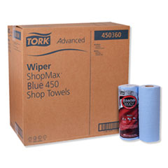Tork® Advanced ShopMax Wiper 450, 11 x 9.4, Blue, 60/Roll, 30 Rolls/Carton