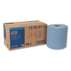 Tork® Industrial Paper Wiper, 4-Ply, 11 x 15.75, Blue, 375 Wipes/Roll, 2 Roll/Carton