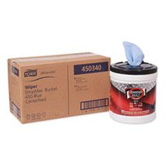 Tork® Advanced ShopMax Wiper 450, 8.5 x 10, Blue, 200/Bucket, 2 Buckets/Carton