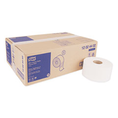 "Tork® Advanced Mini-Jumbo Roll Bath Tissue, Septic Safe, 2-Ply, White, 3.48"" x 751 ft, 12 Rolls/Carton"