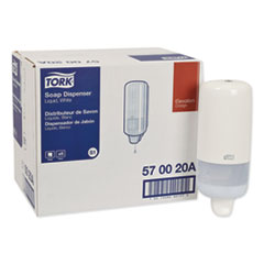 "Tork® Elevation Liquid Skincare Dispenser, 1 L Bottle; 33 oz Bottle, 4.4"" x 4.5"" x 11.5"", White"