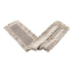 Rubbermaid® Commercial Blended Cut-End Disposable Dust Mop, 24 x 5, White, 12/Carton