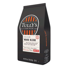 Tully's Coffee® House Blend Whole Bean Coffee, 18 oz Bag, 6/Carton