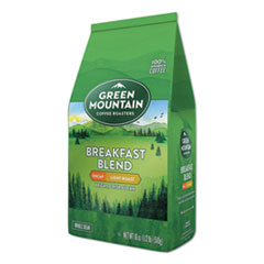 Green Mountain Coffee® Breakfast Blend Decaf Whole Bean Coffee, 18 oz Bag, 6/Carton