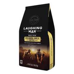 Laughing Man® Coffee Company Colombian Huila Whole Bean Coffee, 18 oz Bag, 6/Carton