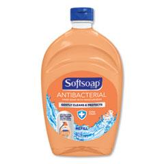 Softsoap® Antibacterial Liquid Hand Soap Refills, Fresh, 50 oz, Orange, 6/Carton