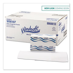 Windsoft® Singlefold Towels, 1 Ply, 9.5 x 9, White, 250/Pack, 16 Packs/Carton