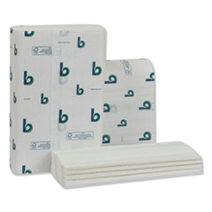 Boardwalk® Structured Multifold Towels, 1-Ply, 9 x 9.5, White, 250/Pack, 16 Packs/Carton