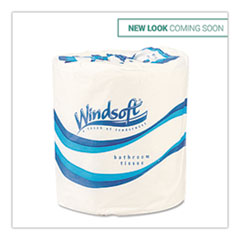 Windsoft® Bath Tissue, Septic Safe, 1-Ply, White, 4 x 3.75, 1000 Sheets/Roll, 96 Rolls/Carton