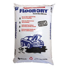 Floor-Dry™ DE Premium Oil Absorbent, Diatomaceous Earth, 25lb Poly Bag