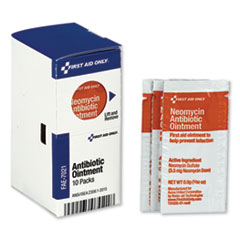 First Aid Only™ SmartCompliance Antibiotic Ointment, 10 Packets/Box