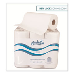 Windsoft® Kitchen Roll Towels, 2 Ply, 11 x 9, White, 72 Sheets/Roll, 6 Rolls/Pack