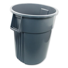 Impact® Advanced Gator Waste Container, Round, Plastic, 55 gal, Gray
