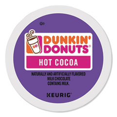Dunkin Donuts® Milk Chocolate Hot Cocoa K-Cup Pods, 24/Box