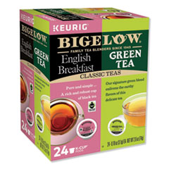 Bigelow® Green Tea and English Breakfast Variety Pack, 24/Box