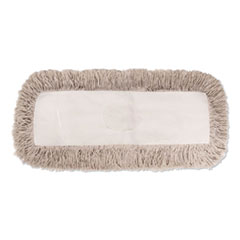 Boardwalk® Industrial Dust Mop Head, Hygrade Cotton, 48w x 5d, White