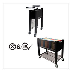 Vertiflex® InstaCart File Cart, 14.25w x 28.5d x 27.75h, Black