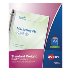 Avery® Standard and Economy Weight Clear and Semi-Clear Sheet Protector