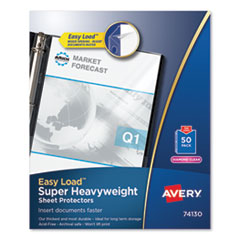 Avery® Heavyweight and Super Heavyweight Easy Load Diamond Clear Sheet Protector
