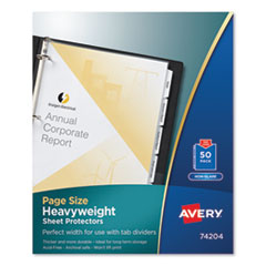 Avery® Page Size Heavyweight Three-Hole Punched Sheet Protector