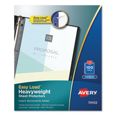 Avery® Heavyweight and Super Heavyweight Easy Load Non-Glare Sheet Protector