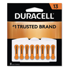 Duracell® Hearing Aid Battery, #13, 8/Pack