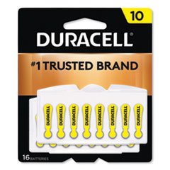 Duracell® Hearing Aid Battery, #10, 16/Pack