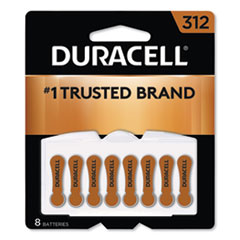 Duracell® Hearing Aid Battery, #312, 8/Pack
