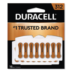 Duracell® Hearing Aid Battery, #312, 16/Pack