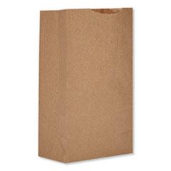 "General Grocery Paper Bags, 52 lbs Capacity, #2, 4.3""w x 2.44""d x 7.88""h, Kraft, 500 Bags"