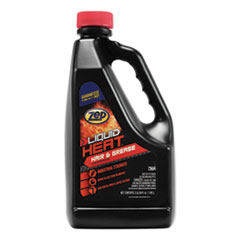Zep Commercial® Liquid Heat Drain Opener, 64 oz Bottle, 6/Carton