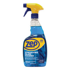 Zep Commercial® Streak-Free Glass Cleaner, Pleasant Scent, 32 oz Spray Bottle, 12/Carton