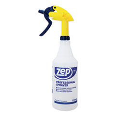 Zep Commercial® Professional Spray Bottle w/Trigger Sprayer, 32 oz, Clear Plastic