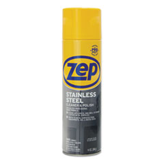 Zep Commercial® Stainless Steel Polish, 14 oz Aerosol, 12/Carton