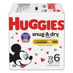 Huggies® Snug and Dry Diapers, Size 6, 35 lbs min, 72/Box