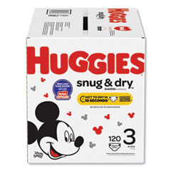 Huggies® Snug and Dry Diapers, Size 3, 16 lbs to 28 lbs, 120/Box
