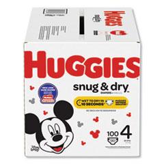 Huggies® Snug and Dry Diapers, Size 4, 22 lbs to 37 lbs, 100/Box
