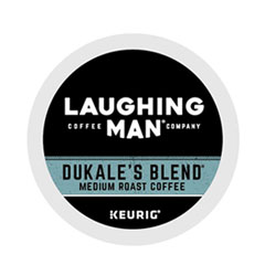 Laughing Man® Coffee Company Dukale's Blend K-Cup Pods, 22/Box