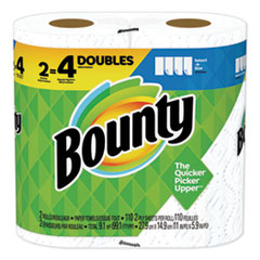 Bounty® Select-a-Size Paper Towels, 2-Ply, White, 5.9 x 11, 110 Sheets/Roll, 2 Rolls/Pack, 12 Packs/Carton