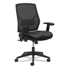HON® Crio High-Back Task Chair, Supports up to 250 lbs., Black Seat/Black Back, Black Base
