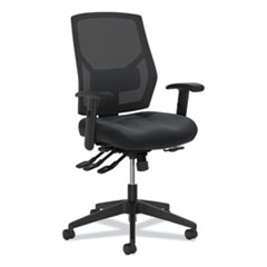 HON® Crio High-Back Task Chair with Asynchronous Control, Supports up to 250 lbs., Black Seat/Black Back, Black Base