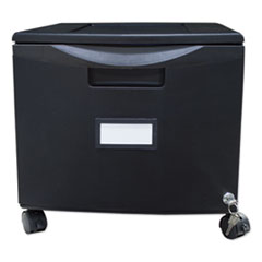 Single-Drawer Mobile Filing Cabinet, 14.75w x 18.25d x 12.75h, Black