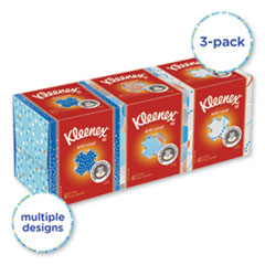 Kleenex® Boutique Anti-Viral Tissue, 3-Ply, White, Pop-Up Box, 60/Box, 3 Boxes/Pack