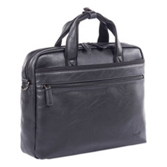 """Swiss Mobility Valais Executive Briefcase, Holds Laptops 15.6"""", 4.75"""" x 4.75"""" x 11.5"""", Black"""