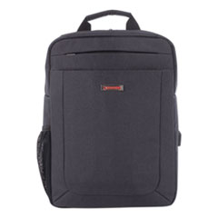 """Swiss Mobility Cadence Slim Business Backpack, Holds Laptops 15.6"""", 4.5"""" x 4.5"""" x 17"""", Charcoal"""